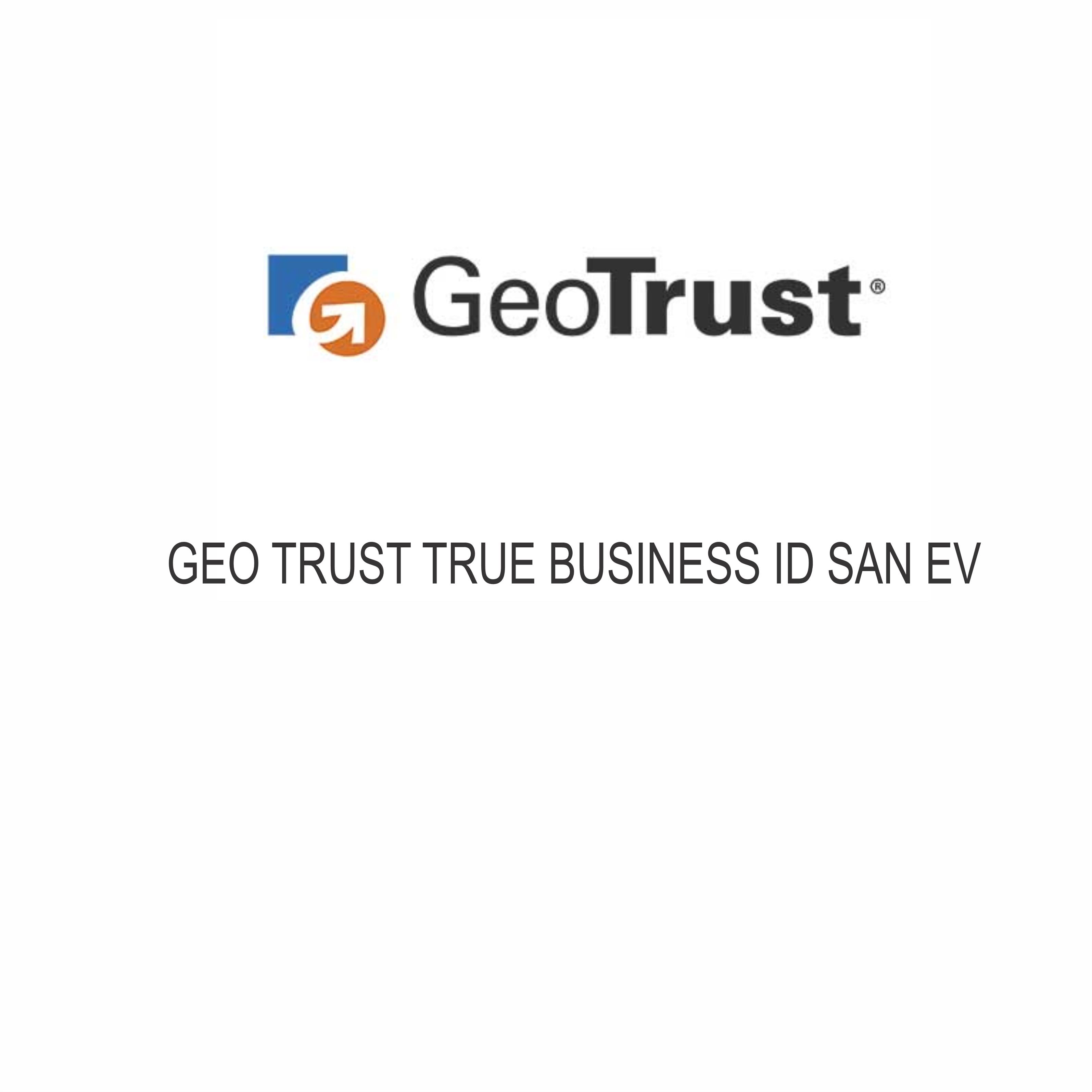 GeoTrust True BusinessID SAN EV